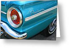 1963 Ford Falcon Tail Light And Logo Greeting Card
