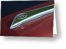 1963 Ford Galaxie Hood Ornament Greeting Card