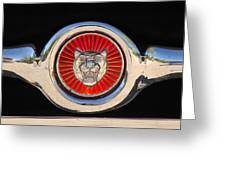 1963 Jaguar Xke Roadster Emblem Greeting Card