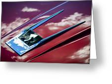 1963 Studebaker Avanti Hood Ornament 4 Greeting Card