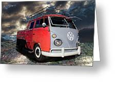 1963 Volkswagen Double Cab Truck Greeting Card