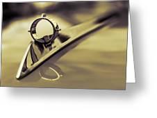 1964 Ford Galaxie 500 Xl Hood Ornament - Sepia Greeting Card