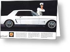 1964 Ford Mustang Muscle Greeting Card