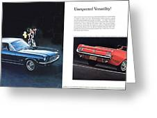 1964 Ford Mustang-08-09 Greeting Card
