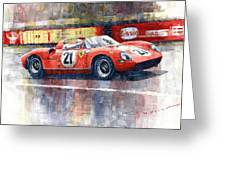 1964 Lemans 24 Ferrari 275p Ludovico Scarfiotti  Greeting Card