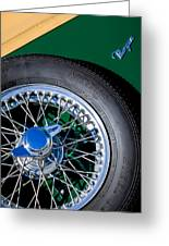 1964 Morgan 44 Spare Tire Greeting Card