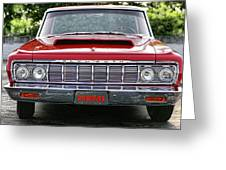 1964 Plymouth Savoy Hemi  Greeting Card