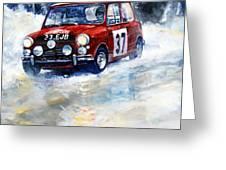 1964 Rallye Monte Carlo Mini Cooper S Hopkirk Liddon Winner Greeting Card