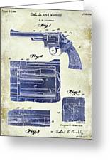 1964 Smith And Wesson Gun Patent Two Tone Greeting Card