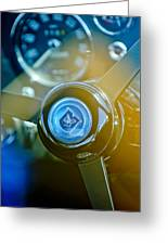 1965 Aston Martin Db5 Coupe Rhd Steering Wheel Greeting Card by Jill Reger