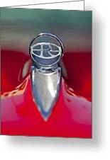 1965 Buick Riviera Hood Ornament Greeting Card