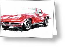 1965 Corvette Greeting Card