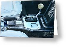 1965 Corvette Hurst Shifter Greeting Card