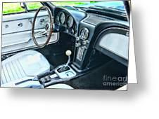 1965 Corvette Inside The Cockpit Greeting Card