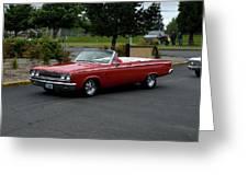 1965 Dodge Coronet 500 Higgins Greeting Card