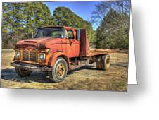 1965 Ford F600 Snub Nose Commercial Truck Greeting Card