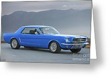 1965 Ford Mustang 'blue Coupe' I Greeting Card