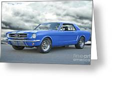1965 Ford Mustang 'blue Coupe' IIa Greeting Card