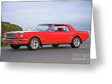 1965 Ford Mustang 'red Coupe' I Greeting Card