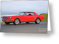 1965 Ford Mustang 'red Coupe' II Greeting Card