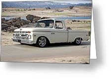 1965 Ford 'twin I Beam' Pickup Greeting Card
