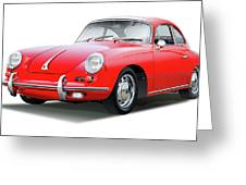 1965 Porshe 356 Sc Coupe Greeting Card
