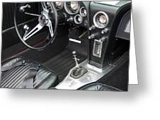 1965 Red Corvette Cockpit Greeting Card