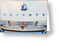 1965 Triumph Tr-4 Hood Ornament Greeting Card