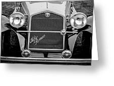 1966 Alfa Romeo Quattro Route 4r -0134bw Greeting Card