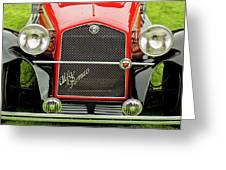 1966 Alfa Romeo Quattro Route 4r Grille Greeting Card
