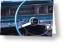 1966 Chevrolet Impala Dash Greeting Card