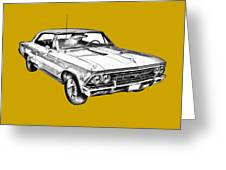 1966 Chevy Chevelle Ss 396 Illustration Greeting Card