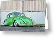 1966 Custom Green Beetle Greeting Card
