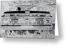 1966 Ford F100 Sketch Greeting Card