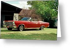 1966 Ford Fairlane 500 Convertible Greeting Card