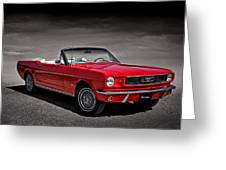 1966 Ford Mustang Convertible Greeting Card