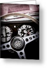 1966 Jaguar Xk-e Steering Wheel Emblem -2489ac Greeting Card