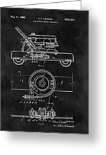 1966 Lawn Mower Patent Image Greeting Card
