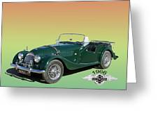 1966 Morgan 4 Plus 4 Greeting Card