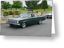 1966 Plymouth Belvedere Rapp Greeting Card