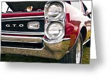 1966 Pontiac Gto Grill Greeting Card
