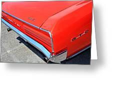 1966 Pontiac Gto Tail Lights And Logos Greeting Card
