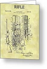 1966 Rifle Patent Greeting Card