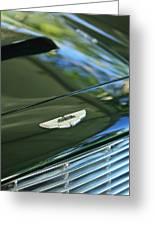 1967 Aston Martin Db6 Coupe Hood Emblem Greeting Card