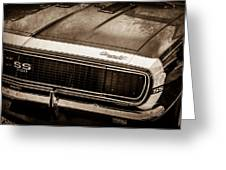 1967 Chevrolet Camaro Ss350 Convertible Grille Emblem -0704s Greeting Card