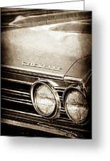 1967 Chevrolet Chevelle Ss Super Sport Emblem -0413s Greeting Card