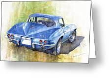 1967 Chevrolet Corvette C2 Stingray  Greeting Card