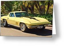 1967 Chevrolet Corvette Sport Coupe Greeting Card