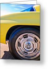 1967 Chevrolet Corvette Sport Coupe Rear Wheel Greeting Card