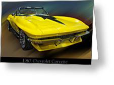 1967 Chevy Corvette Convertible Greeting Card